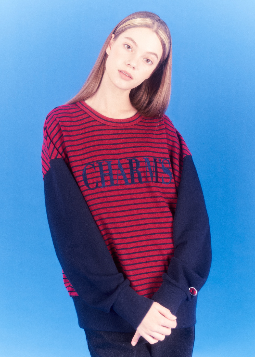 CHARMS STRIPE LOGO SWEATSHIRTS BD