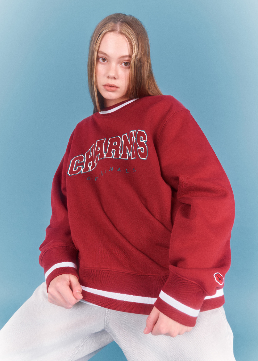 CHARMS APPLIQUE  LOGO SWEATSHIRTS RE