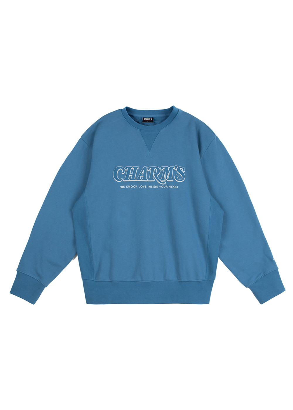 CHARMS EMBOSSING SWEATSHIRTS BL